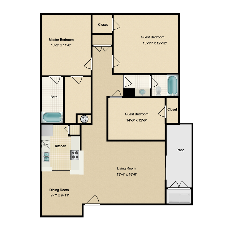 1,426 sq. ft. M floor plan