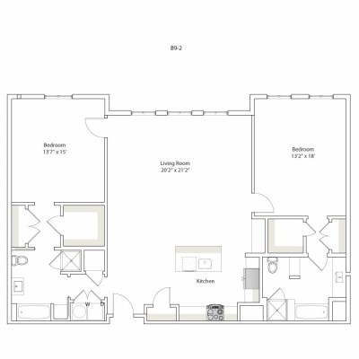 1,512 sq. ft. B9-2 floor plan