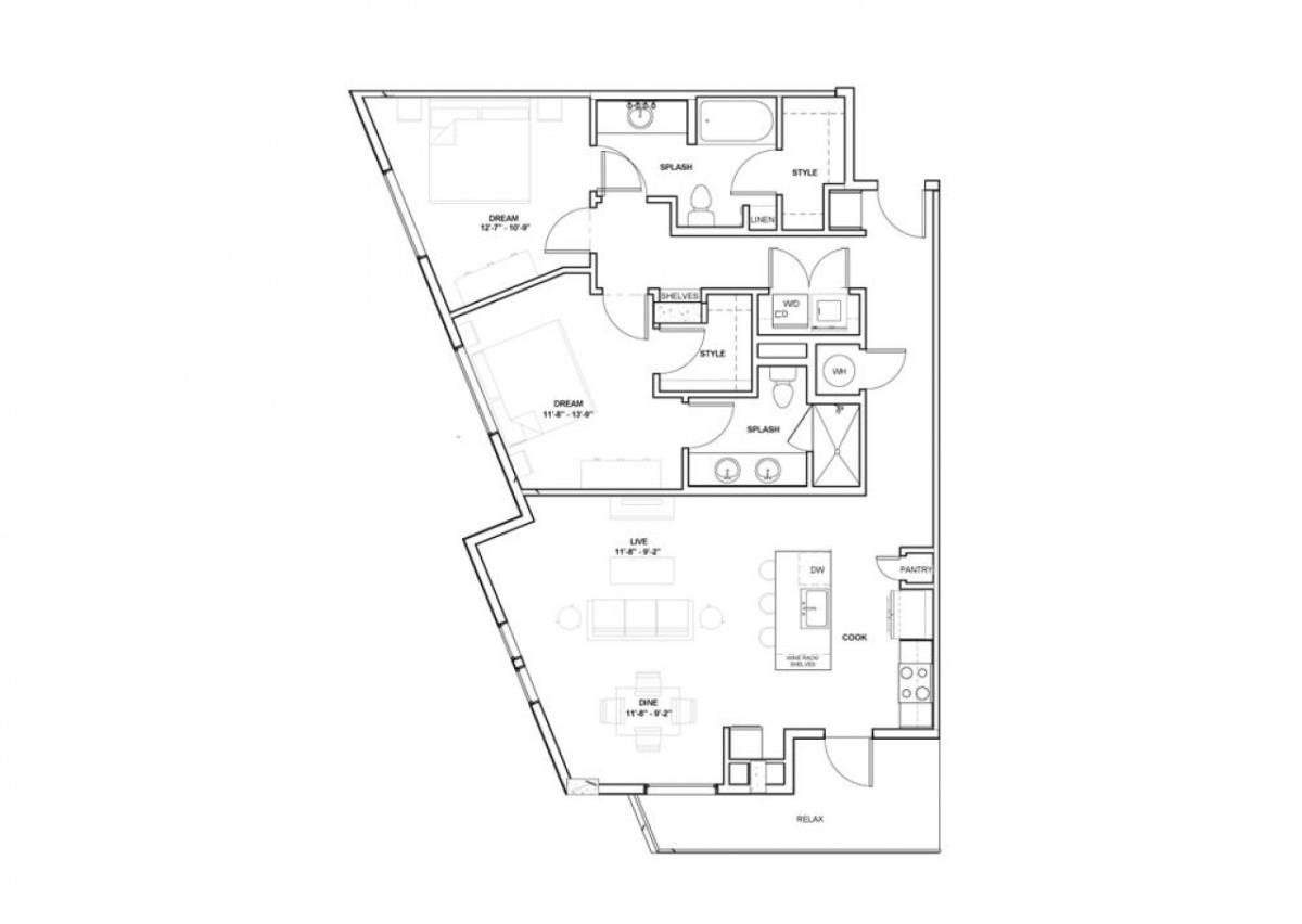 1,238 sq. ft. McGraw floor plan