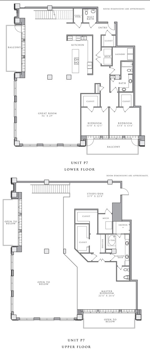 4,376 sq. ft. P7 floor plan