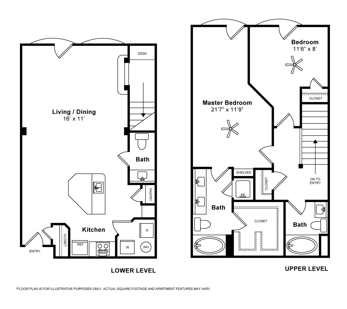 1,346 sq. ft. Venezia floor plan