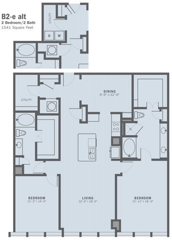 1,541 sq. ft. B2E ALT floor plan