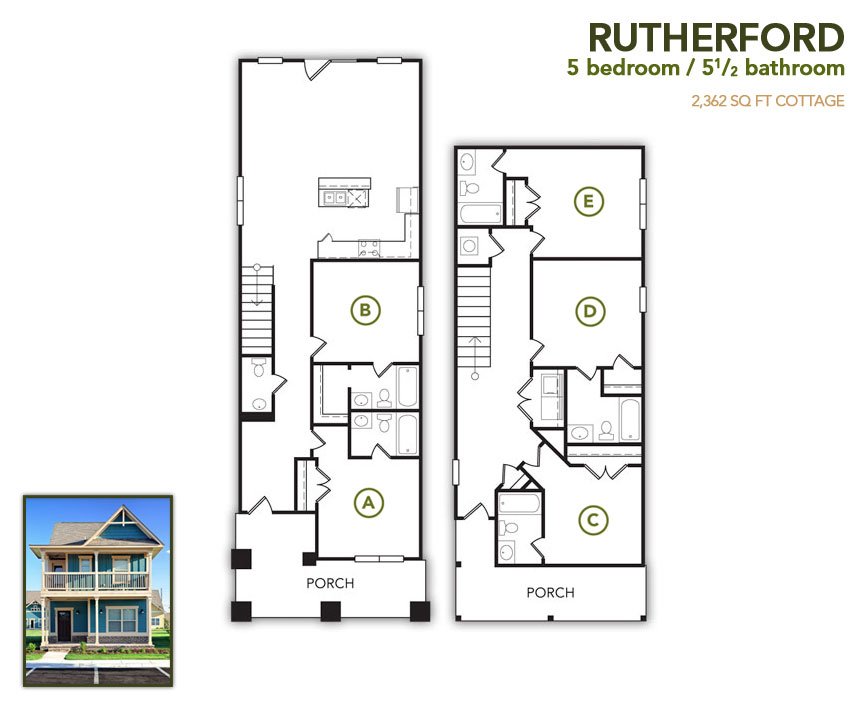 2,362 sq. ft. Rutherford floor plan