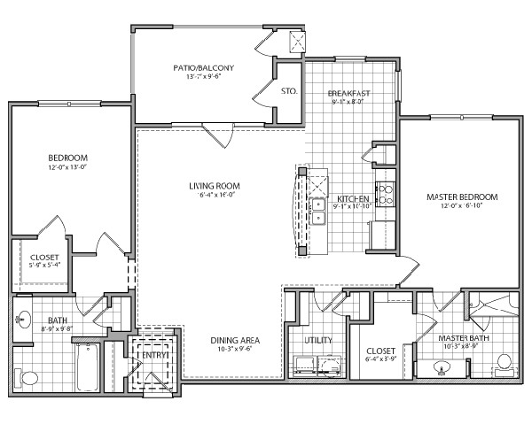 1,465 sq. ft. Venezia Indep. floor plan