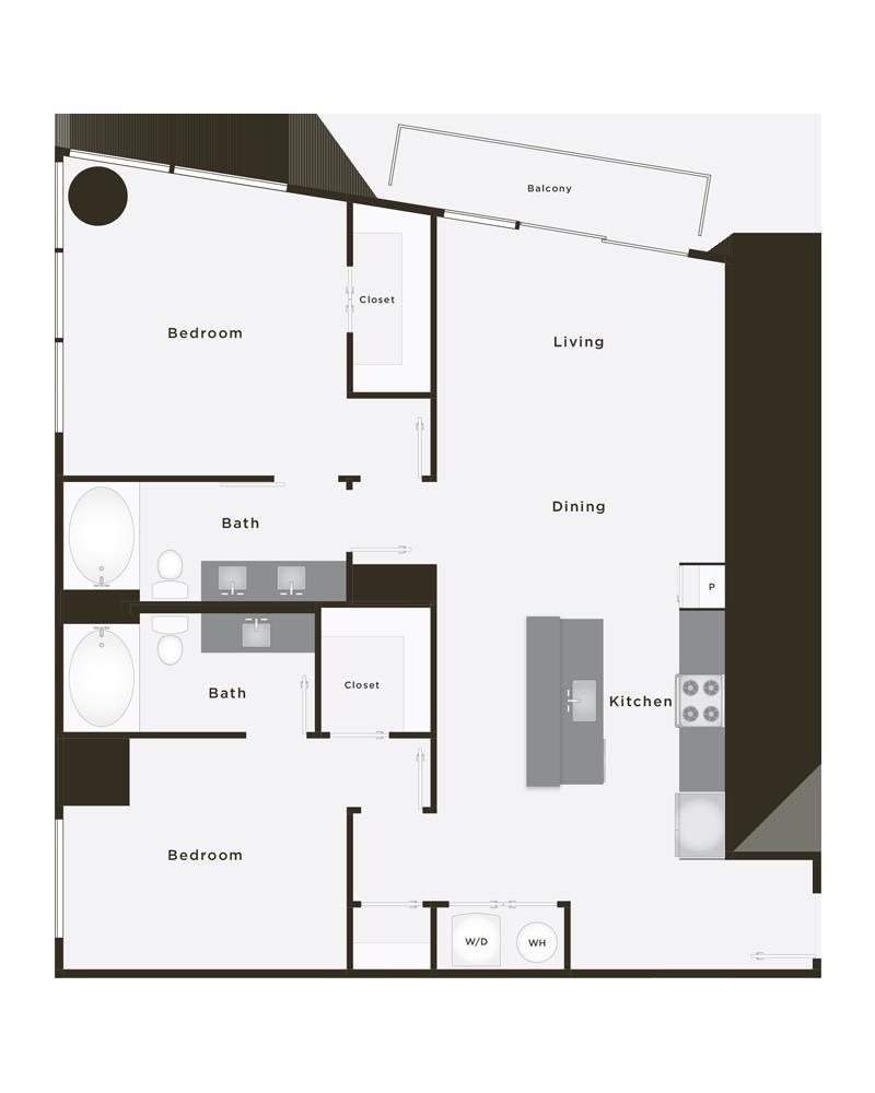 1,184 sq. ft. Grand Champion PH floor plan