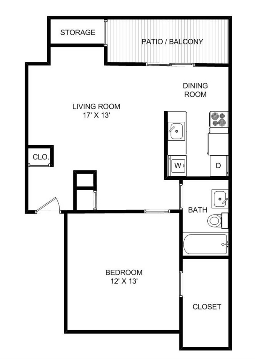 739 sq. ft. floor plan