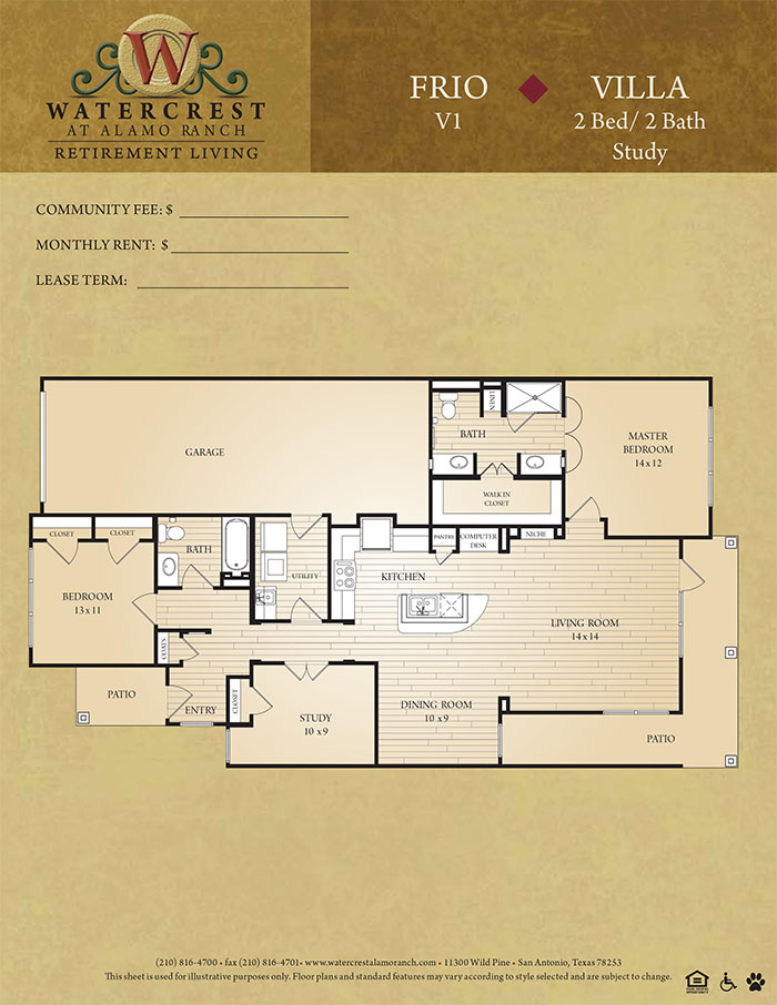 1,060 sq. ft. Frio floor plan