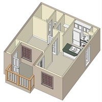 474 sq. ft. A1 floor plan