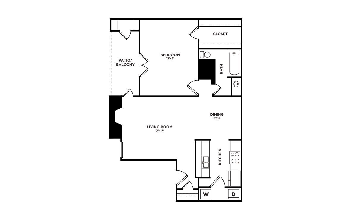 775 sq. ft. A3-Tahoe floor plan