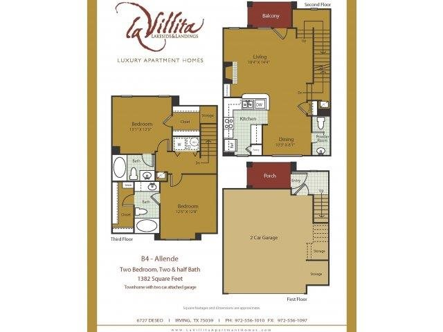 1,382 sq. ft. Allende floor plan