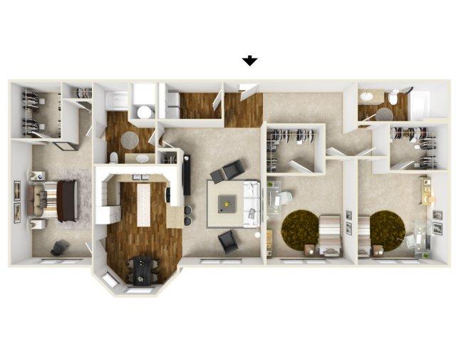 1,647 sq. ft. EAHAVEN floor plan
