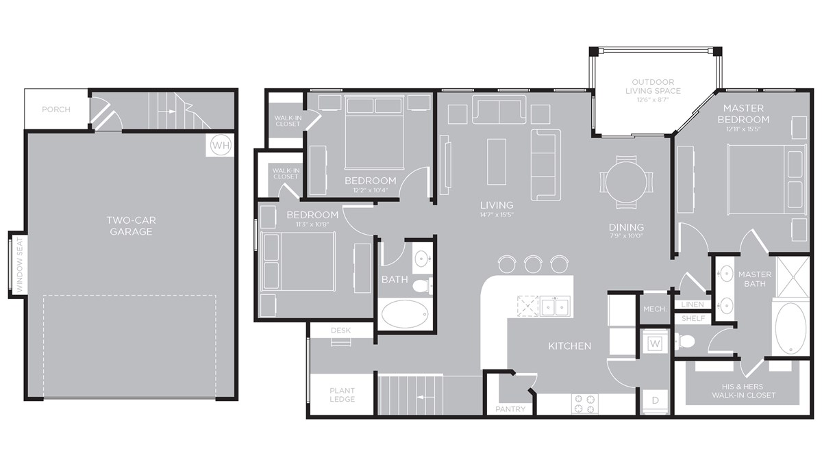 1,578 sq. ft. Lady Bird floor plan
