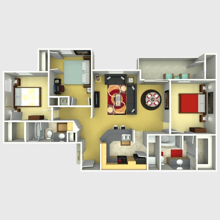 1,253 sq. ft. Estates floor plan