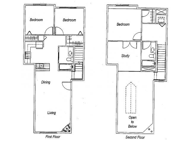 1,431 sq. ft. C2 floor plan