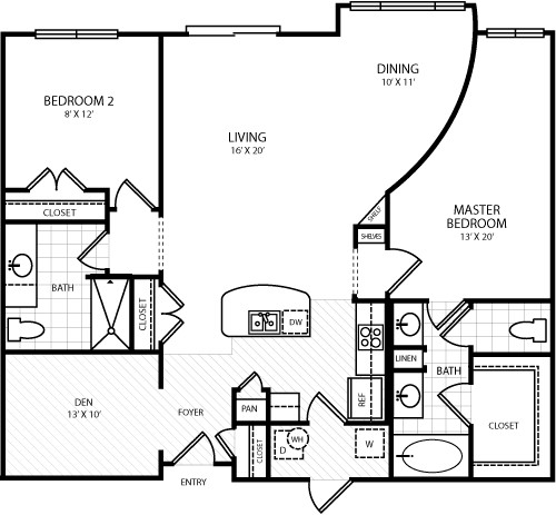 1,470 sq. ft. L2 floor plan