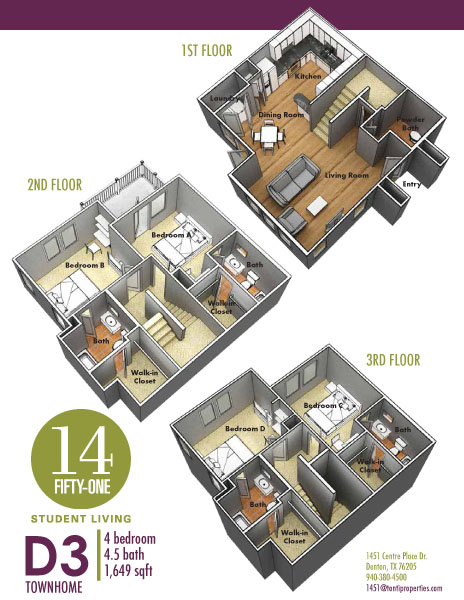 1,649 sq. ft. D3 floor plan