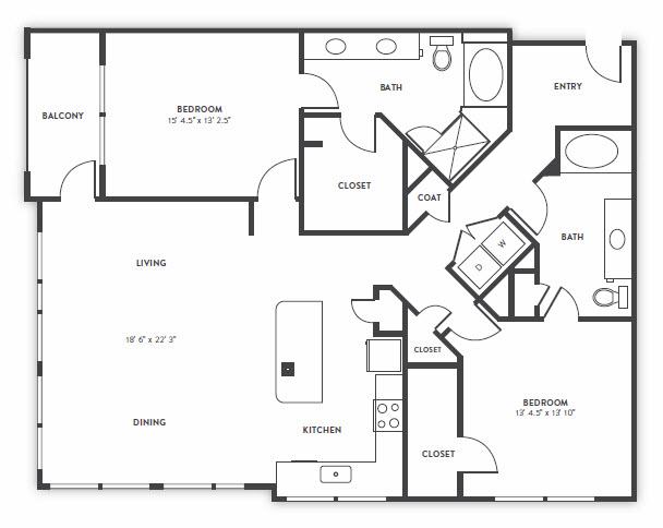 1,680 sq. ft. B4 floor plan