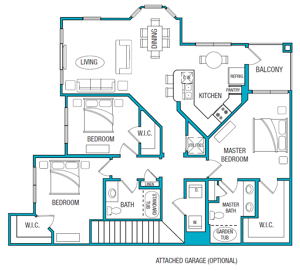 1,477 sq. ft. C2 floor plan