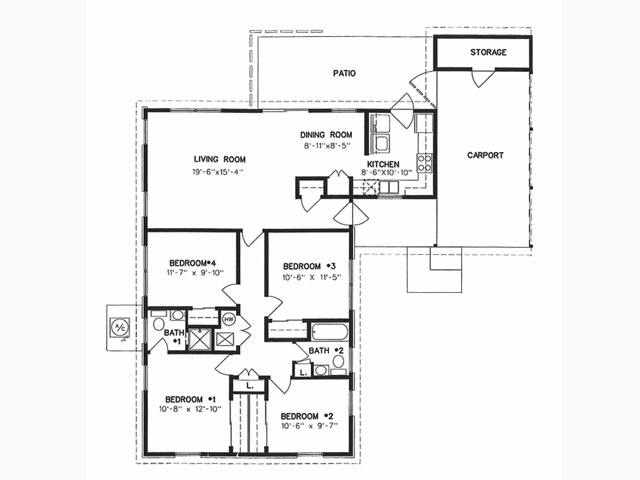1,355 sq. ft. to 2,265 sq. ft. floor plan