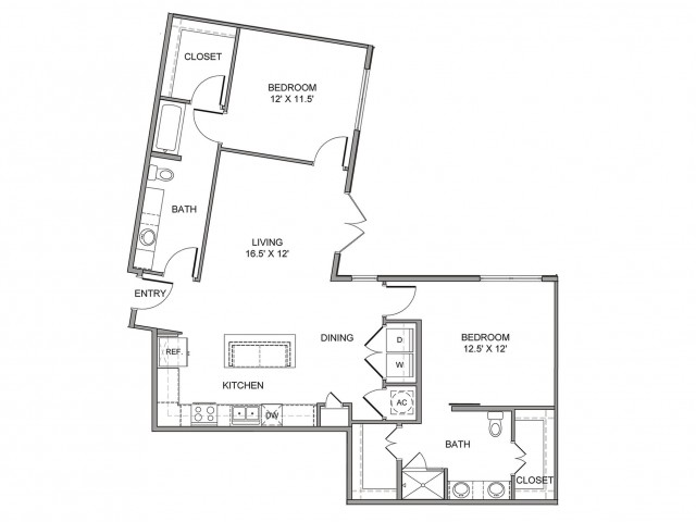 1,219 sq. ft. Griffin floor plan
