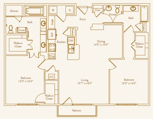 1,435 sq. ft. Willowick floor plan