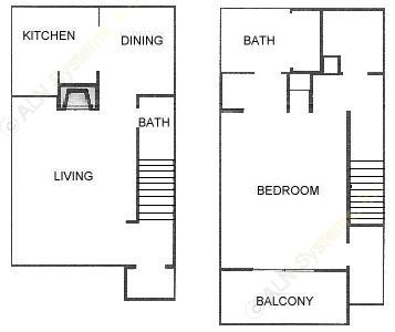 811 sq. ft. A4 floor plan