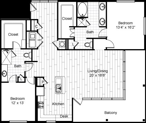 1,724 sq. ft. 22F5 floor plan