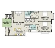 1,053 sq. ft. Clydesdale floor plan