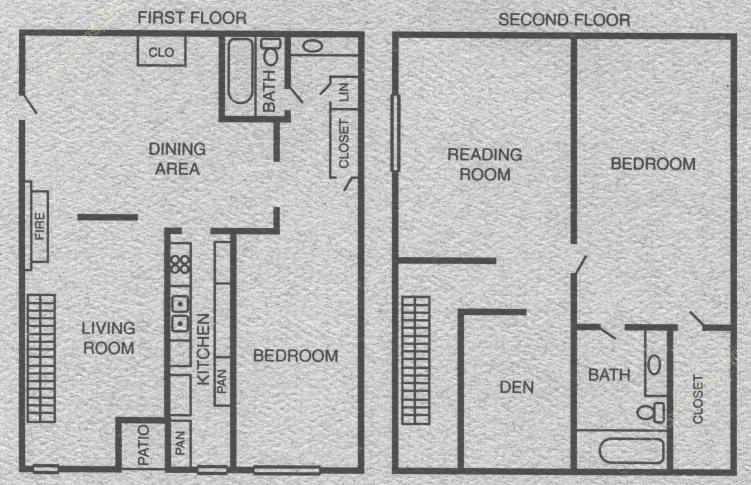 1,352 sq. ft. to 1,395 sq. ft. B5/B6 floor plan