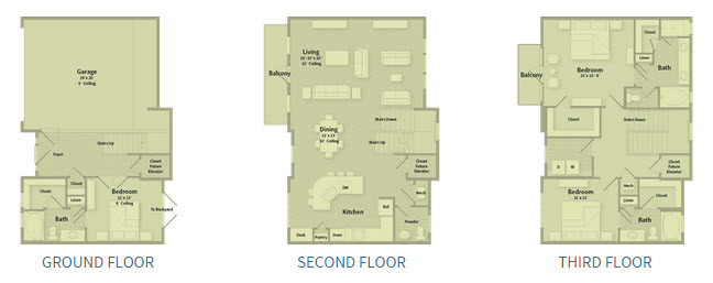 2,417 sq. ft. T2A floor plan