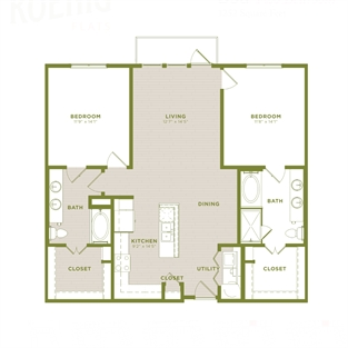 1,252 sq. ft. B5a floor plan