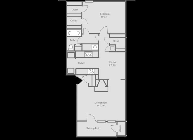 831 sq. ft. floor plan