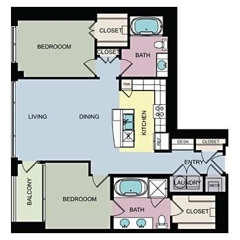 1,345 sq. ft. F floor plan
