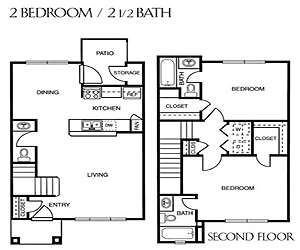 976 sq. ft. C/60 floor plan