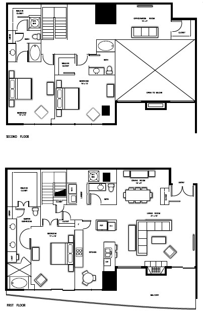 2,945 sq. ft. PH1 floor plan