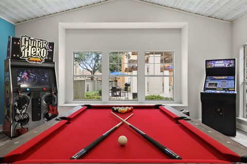 Gameroom at Listing #136198