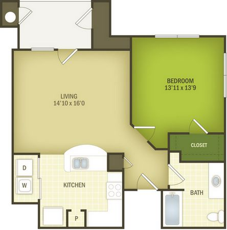 767 sq. ft. Windfall 30% floor plan