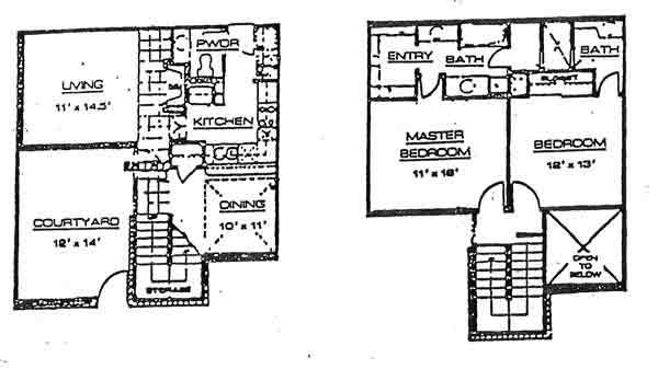 1,104 sq. ft. C floor plan