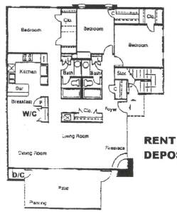 1,585 sq. ft. F floor plan