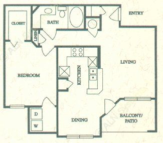794 sq. ft. B floor plan