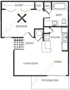 479 sq. ft. floor plan