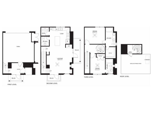1,427 sq. ft. Richards floor plan