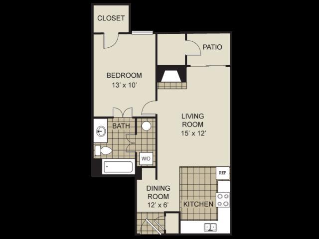 616 sq. ft. A9-C floor plan