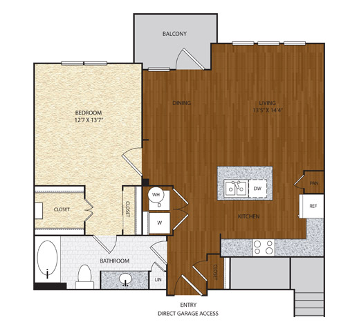 840 sq. ft. A5.2 floor plan