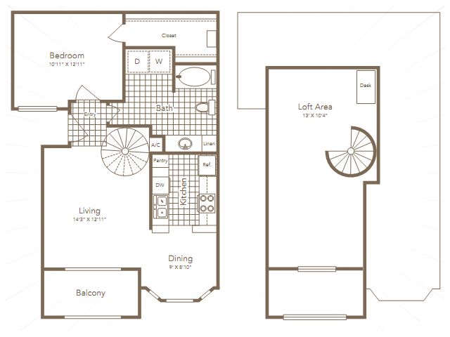 862 sq. ft. MITCHELL floor plan