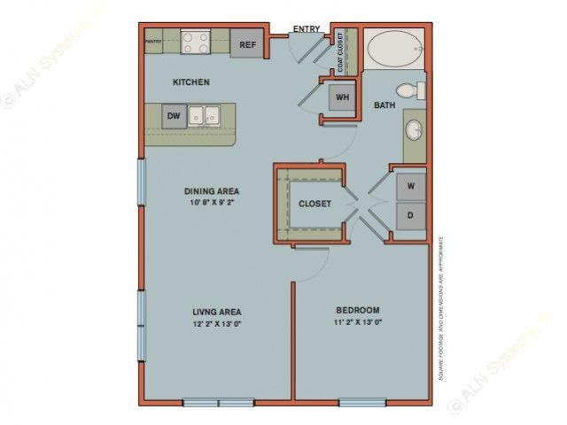 779 sq. ft. A2.2 floor plan