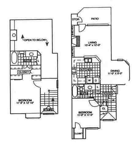 1,060 sq. ft. Sycamore floor plan