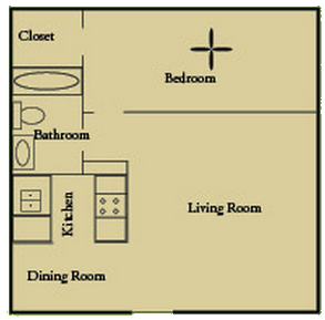 635 sq. ft. floor plan