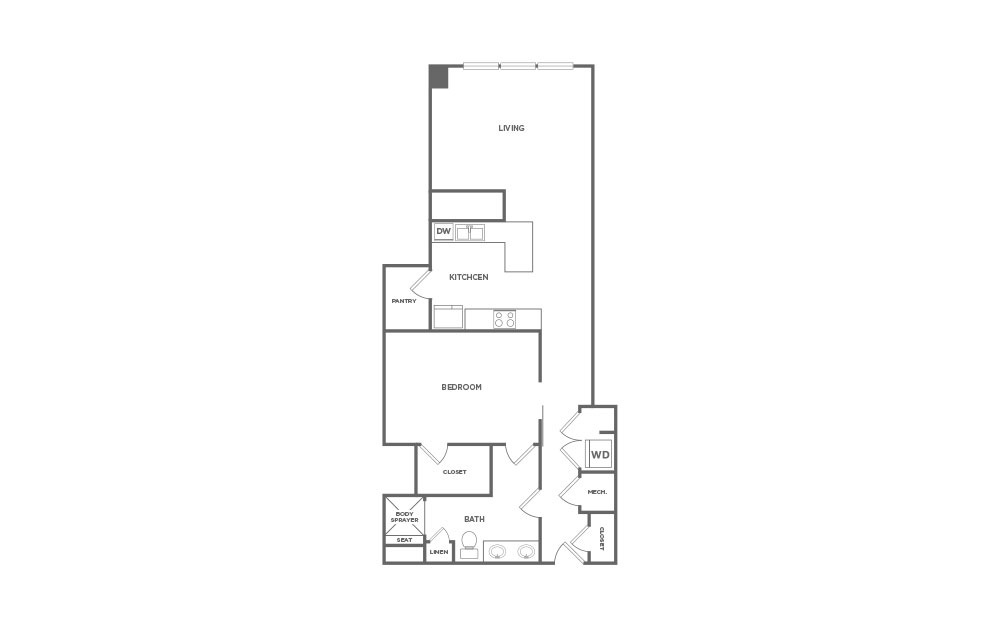 1,159 sq. ft. EA1.40 floor plan