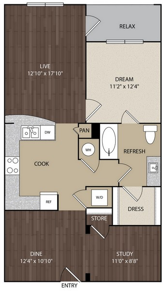 947 sq. ft. A9C floor plan